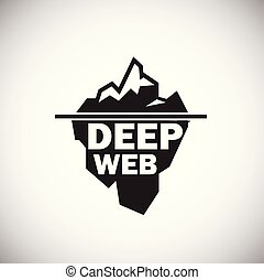 Deep web icon on white background