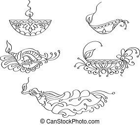 Deepak Ornamental Design Collection Vector Art