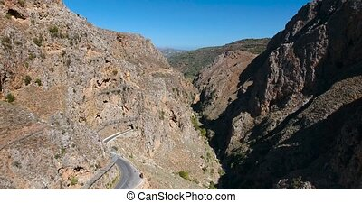 deepg gorge in mountains at crete