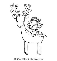 Deer and the angel.