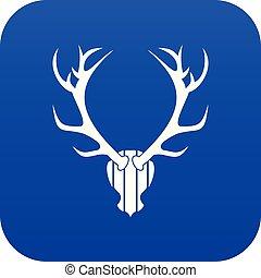 Deer antler icon digital blue
