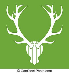 Deer antler icon green