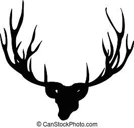 Deer antler icon on white background