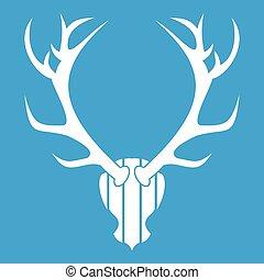 Deer antler icon white