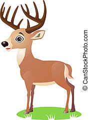 Deer cartoon - Vector cute deer cartoon