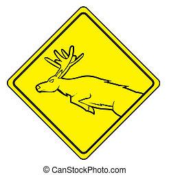 deer cross sign