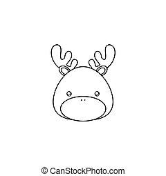 deer Drawing Face