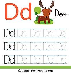 deer drawing line vector design