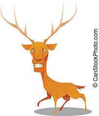deer - vector illustration of a cute deer