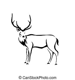 deer figure, vector illustration