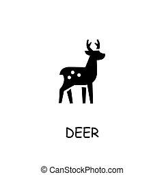 Deer flat vector icon