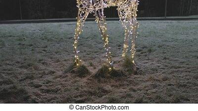 deer garland new year street decoration.