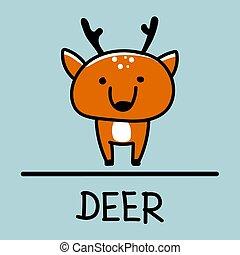 Deer hand-drawn style.