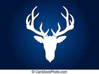 Deer head, big horn deer