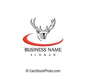 Deer head icon logo vector