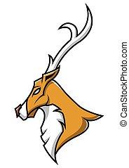 Deer head mascot on isolated