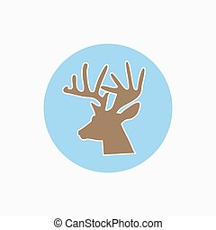 Deer head vector icon