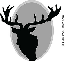 deer horns vector silhouettes