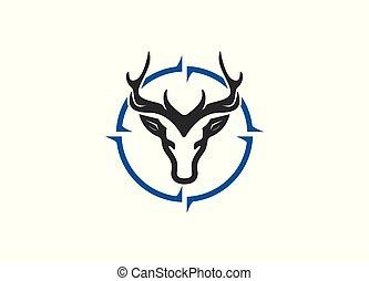 Deer Hunt logo designs vector