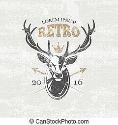 Deer hunters club vector badges, labels, logos