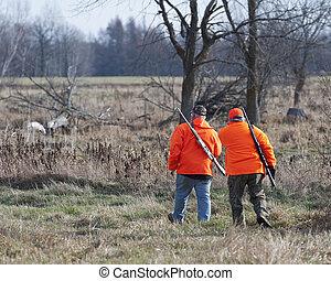 A pair of Deer hunters