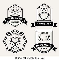 Deer hunting badges
