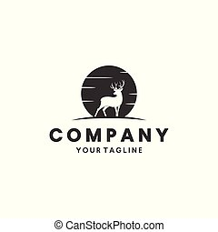 deer hunting logo design inspiration