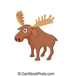 Deer icon, cartoon style