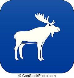 Deer icon digital blue