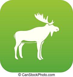 Deer icon digital green