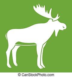Deer icon green