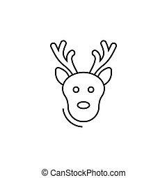 deer icon in line art style. Vector illustration esp 10