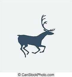 Deer icon. Vector illustration