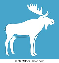 Deer icon white
