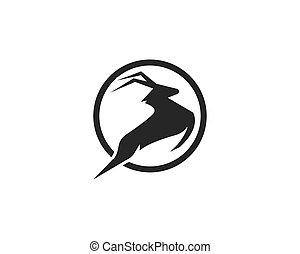Deer ilustration logo vector template
