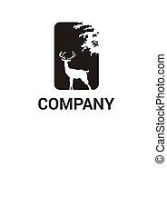 deer in forest logo