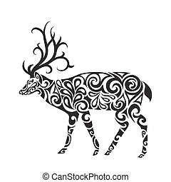 Deer in the style of a tattoo