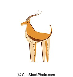 deer jungle animal in cartoon abstract design