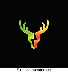 Deer logo design, Green energy logo