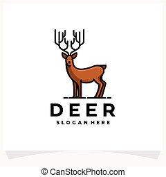 Deer Logo Design Template