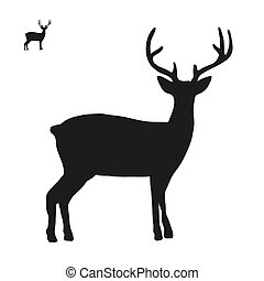 Deer logo icon side view