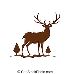 deer logo icon vector