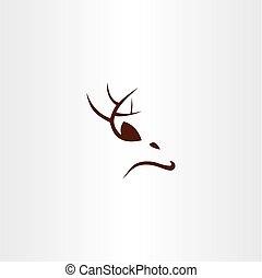deer logo icon vector sign symbol