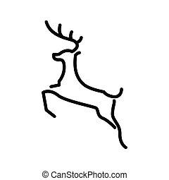 Deer logo line art vector