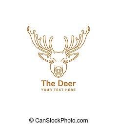deer mono line design