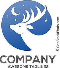 deer head logo circle