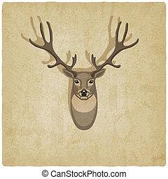 deer old background