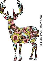 deer silhouette christmas