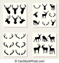 deer silhouette, vector illustration