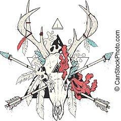 Deer Skull Totem